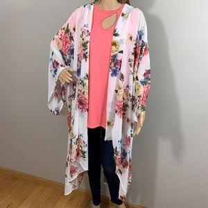 Plus Size Duster Length Kimono